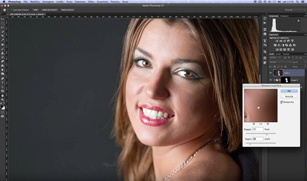 come levigare la pelle di un ritratto, tutorial photoshop